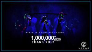 FB video 1.4 million views! XTRAP LED glove dance